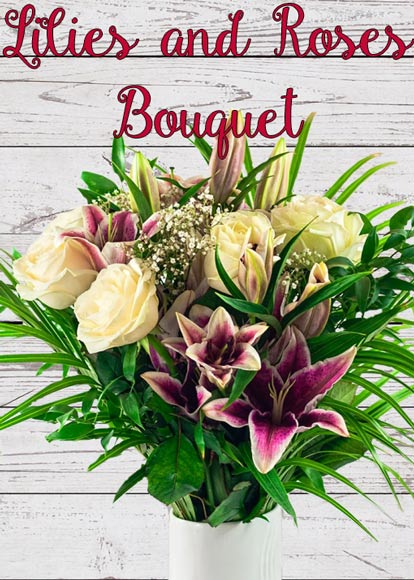 Lilies and Roses Bouquet Mother's Day