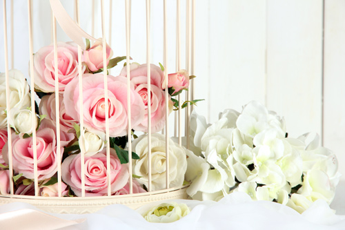 Cage Wedding Arrangement