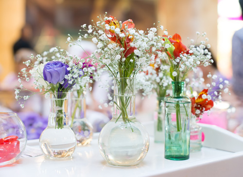 Glass Wedding Arrangement
