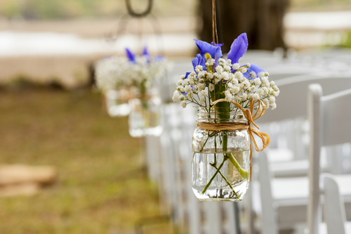Mason Jar Wedding Arrangement