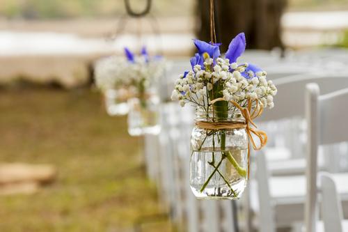 Mason Jar Wedding Arrangement
