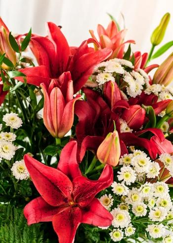 White Orange Bouquet
