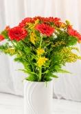 Vikiflowers flowers delivered uk Orange Gerberas Bouquet