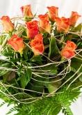 Vikiflowers flowers online uk Orange Roses Bouquet