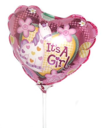 Vikiflowers flowers by post A Baby Girl Balloon