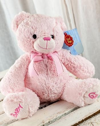 Vikiflowers flower delivery london Keel Toys 'Baby Girl' 22cm Bear