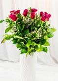 Vikiflowers flower deliveries Cerise Roses Bouquet