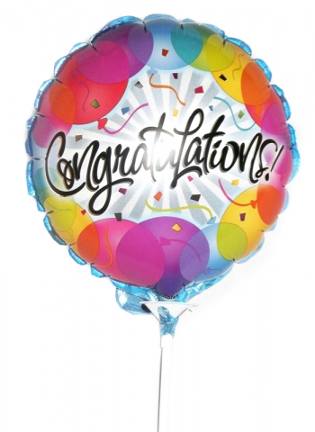 Vikiflowers flower delivery london Congratulations Balloon