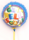Vikiflowers flowers delivered uk Get Well Balloon