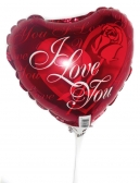 Vikiflowers flowers delivery uk I Love You Balloon