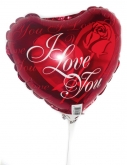 Vikiflowers flowers delivered uk I Love You Balloon