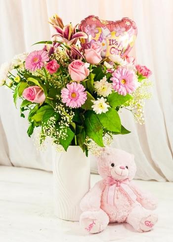 Vikiflowers flower bouquets It's a Girl