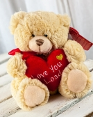 Vikiflowers flowers delivered uk Keel Toys 'Love' 25cm Bear