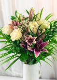 Vikiflowers send flowers online Lilies & Roses Bouquet
