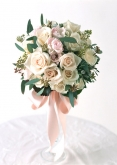 Vikiflowers flowers by post Pretty Pink Bouquet