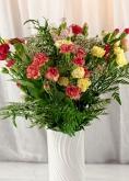 Vikiflowers flower deliveries Spray Carnations Bouquet