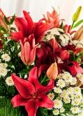 Vikiflowers flowers by post White Orange Bouquet