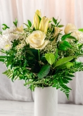 Vikiflowers flowers delivered uk White Sky Bouquet