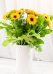Vikiflowers flowers delivered uk Yellow Gerberas