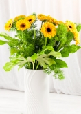 Vikiflowers flowers for delivery Yellow Gerberas