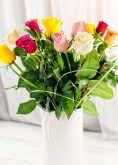 Vikiflowers flower deliveries 12 Mixed Roses Bouquet