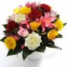 Vikiflowers flower delivery london Colourful Dream Bouquet