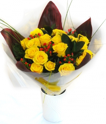 Vikiflowers flowers delivered uk Sunny Smile Bouquet